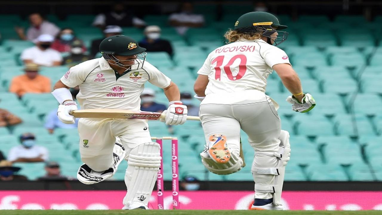 INDvsAUS  3rd Sydney test Australia ends day 1 at  2 down 166 runs