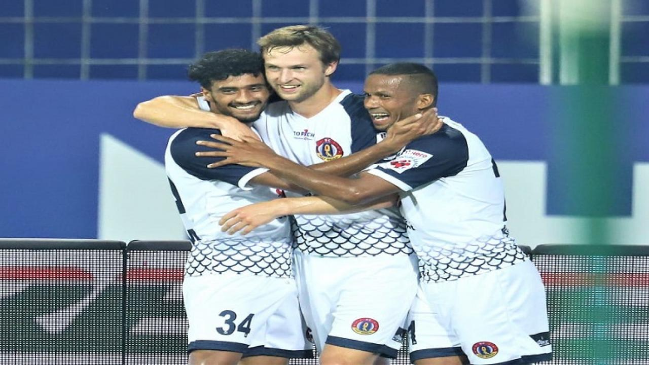 ISL 2020 21 East Bengal beats Bangalore FC  yesterday in the match played at Jawaharlal Nehru stadium in Fatorda