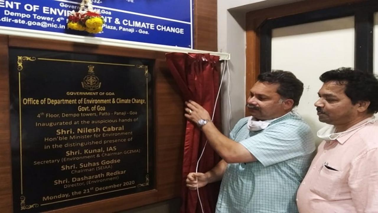 Goa Environment department has been shifted to Panaji inaugurated by Environment minister Nilesh Kabral