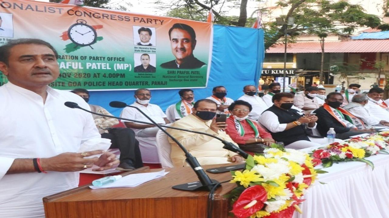 Reconstruction of Nationalist Congress in Goa begins with inauguration of new party office in Goa
