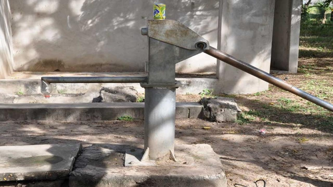The handpump in Kunkalli is sealed