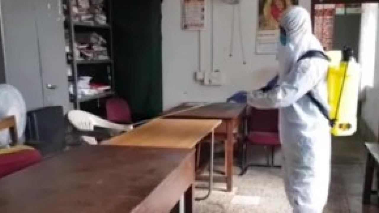 Disinfection of Bicholim Police Station