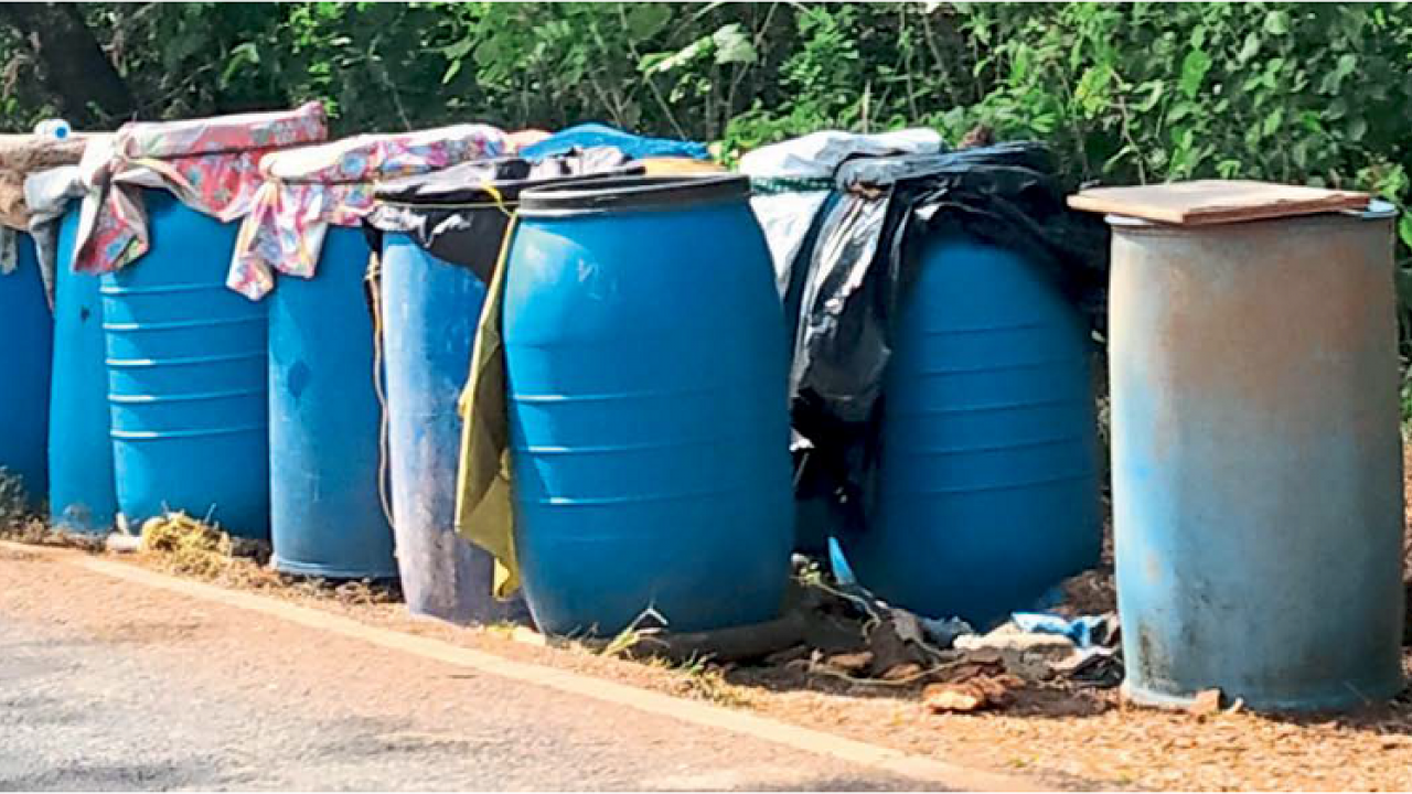 Gaondongri panchyat in Canacona is suffering from severe water scarcity