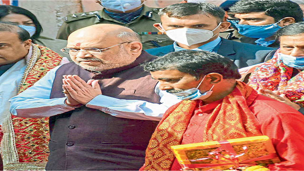 Union home minister Amit Shah visited Manipur for a day on Sunday inaugurated various development projects