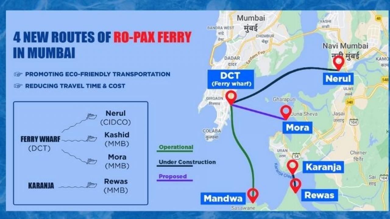 Water taxi service will be launched on 12 new routes in Mumbai
