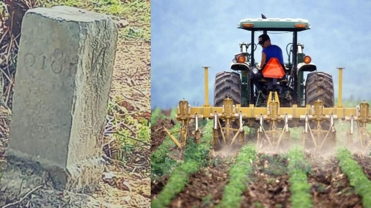 The Belgium farmer moved 'a stone' and France became smaller