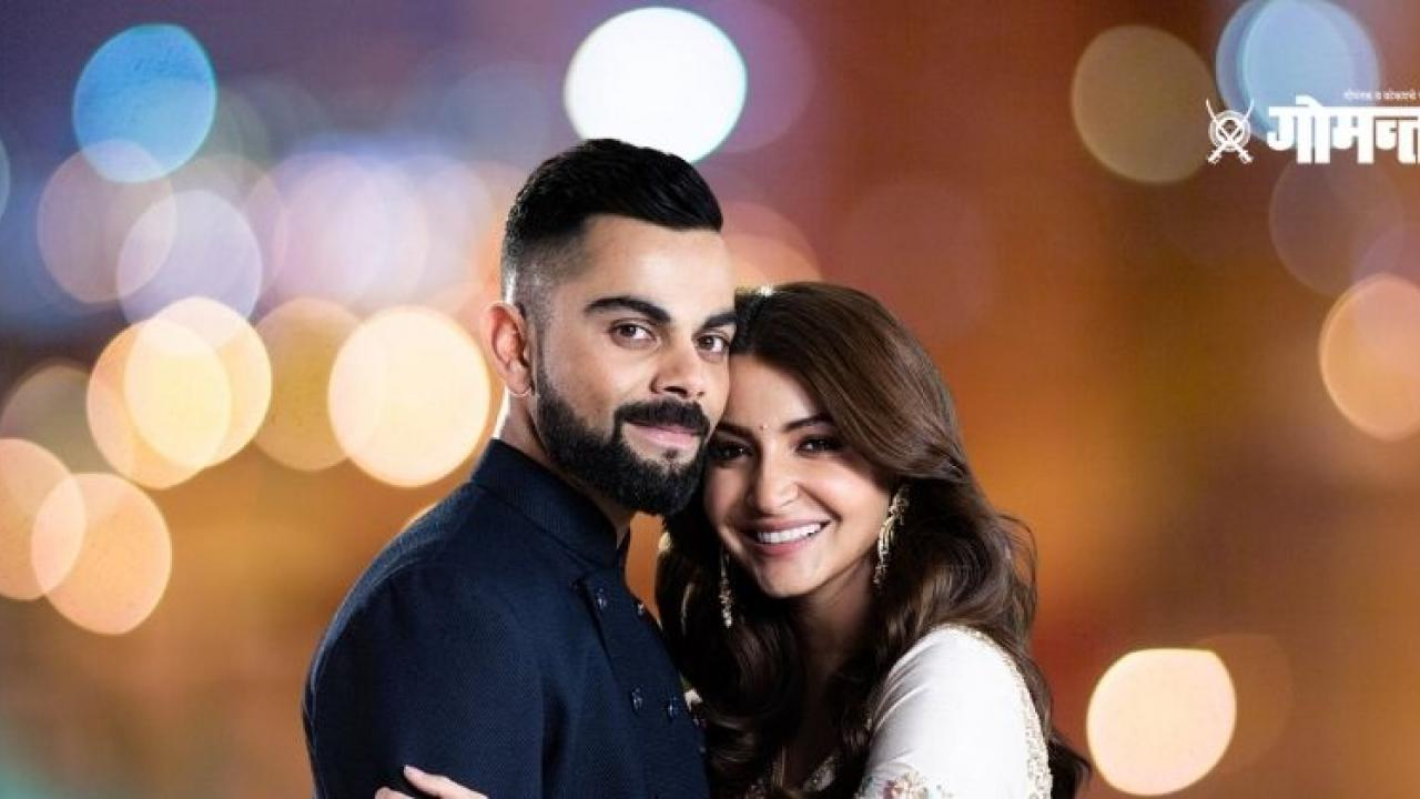 Virat Anushka in front of media new hairstyle suits Virat Kohli