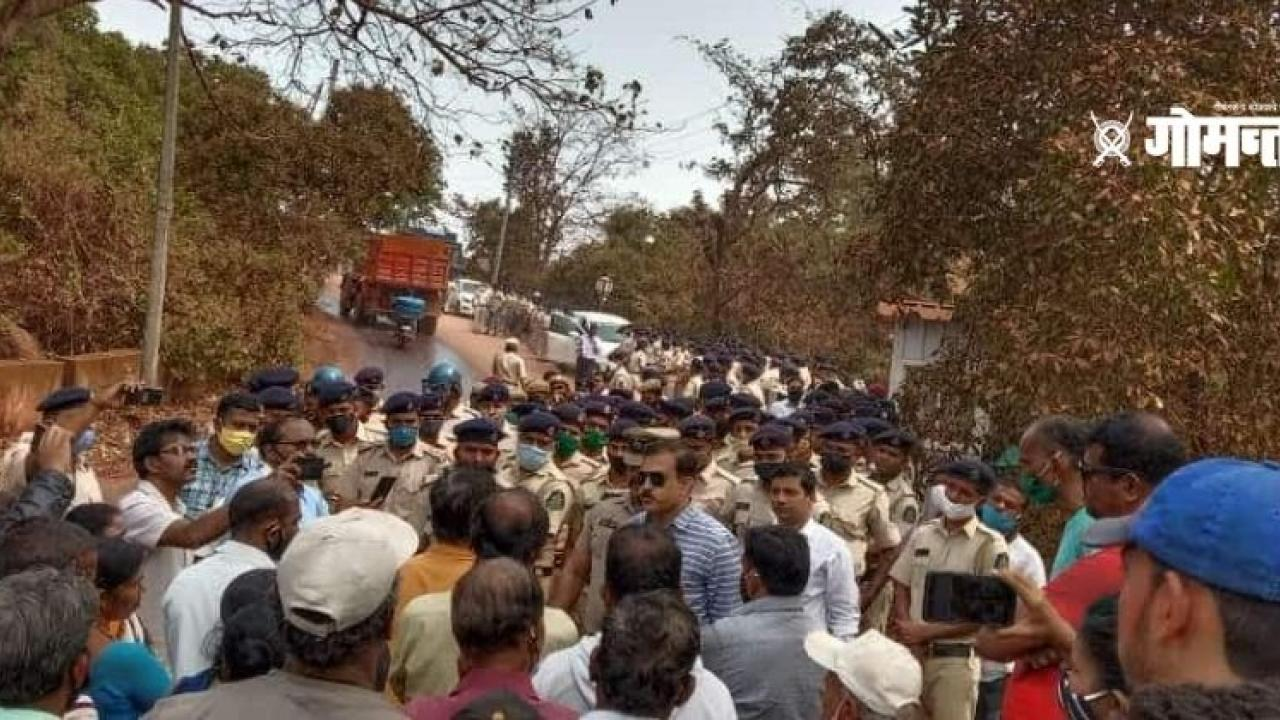 villagers protested against land acquisition for Mop Airport