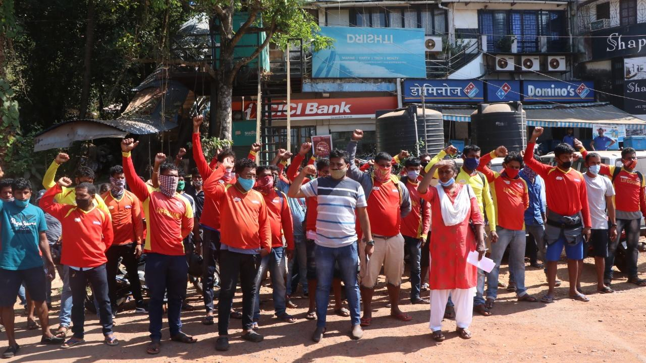 Goa Police stopped lifeguards on their way to the celebrations of goa liberation day