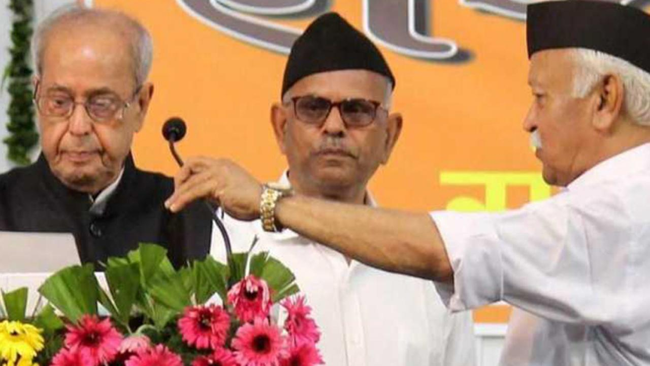 Pranab Mukherjee attend RSS programme in Nagpur
