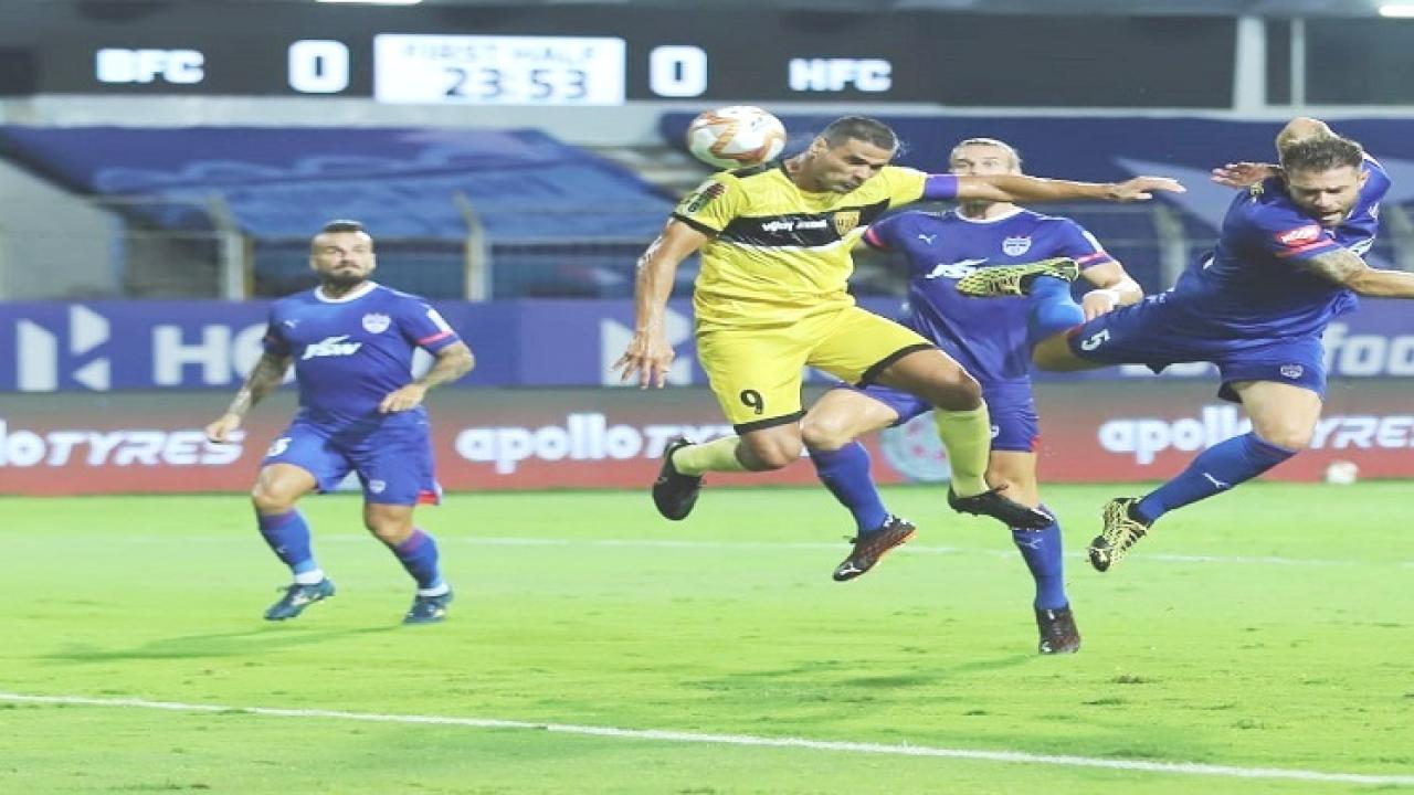 Bangalore away from victory in second match in ISL Defensive draw with Hyderabad