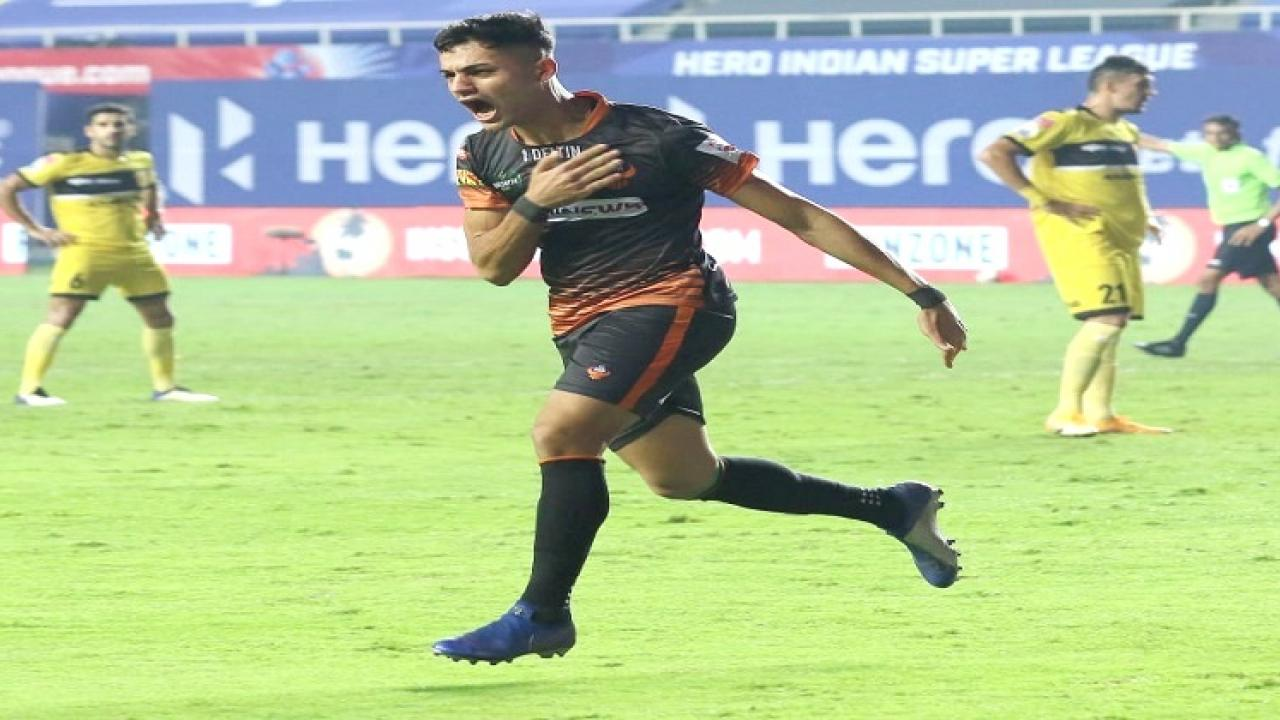 FC Goa beats Hyderabad FC by 1 goal in the Indian Super match played in Tilak Stadium Vasco
