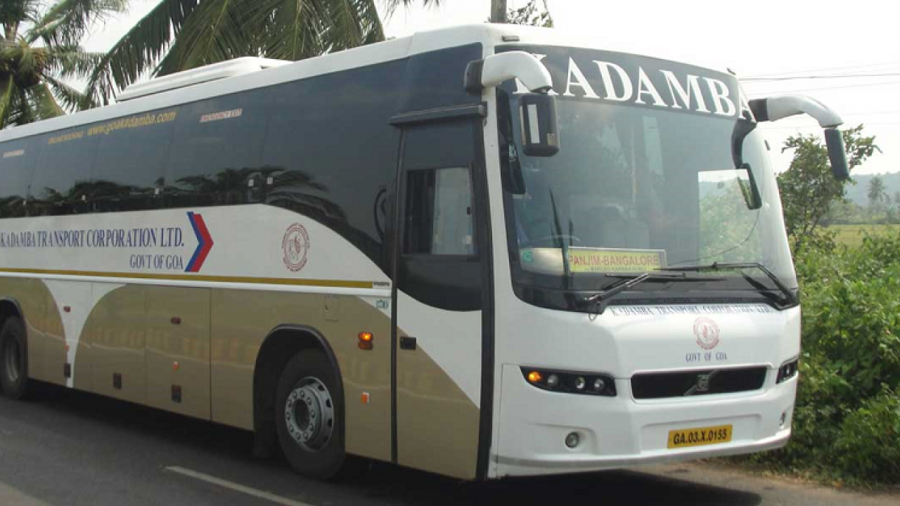 The Kadamba bus of No 1 ran