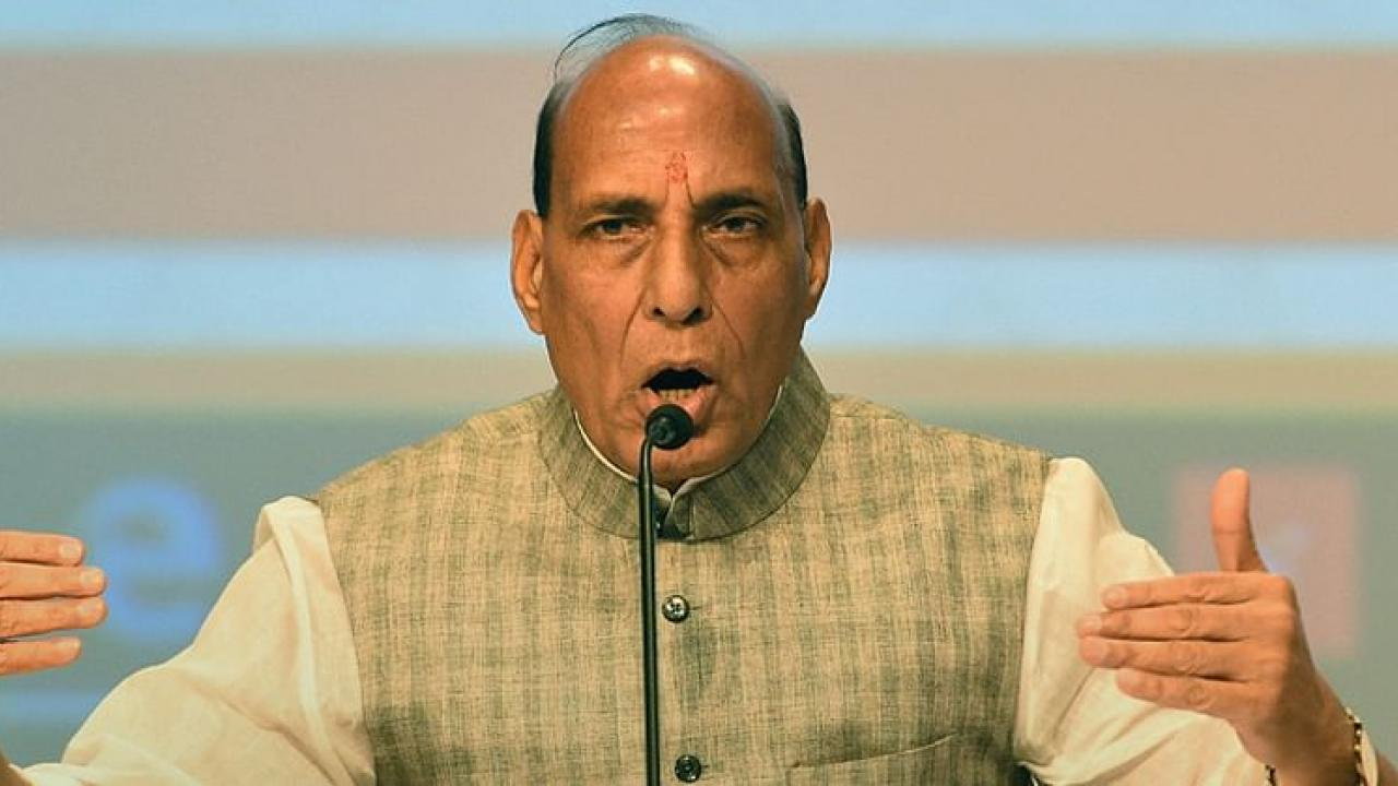 Always ready for Peace talks but will never tolerate any harm to India said defence minister Rajnath Singh at Dindigul
