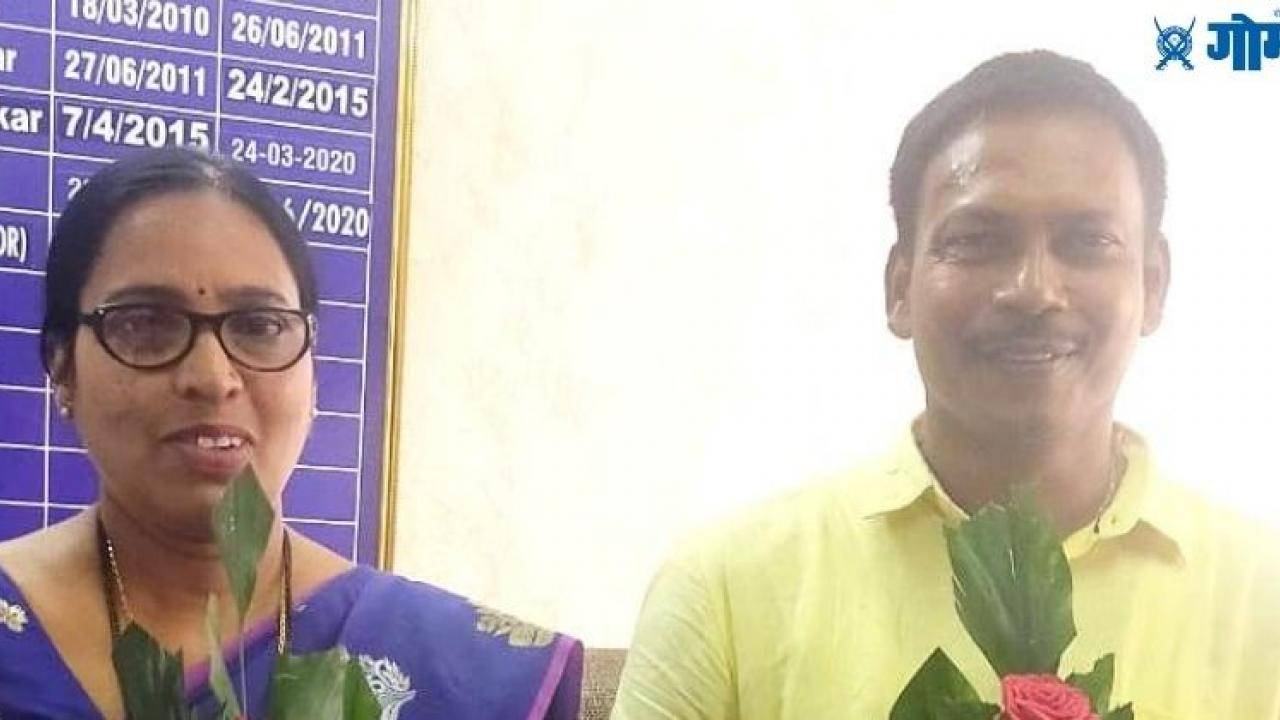 Kartik Kudnekar and Suvarna Tendulkar have been elected unopposed North Goa and South Goa ZP Chairperson