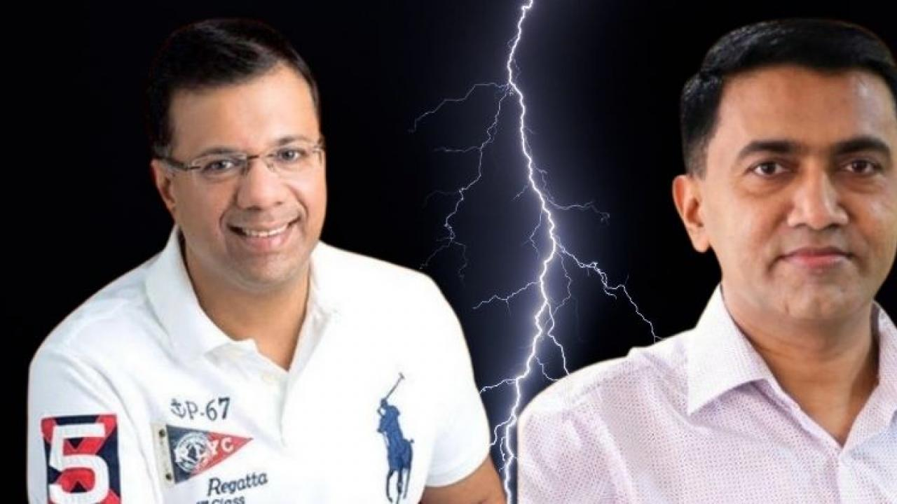 The controversy between Goa CM Pramod Sawant and Health Minister Vishwajit Rane is being discussed everywhere