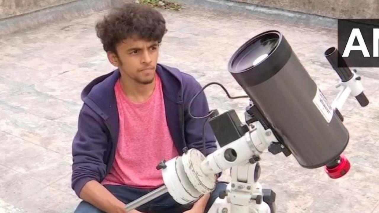 16 year old boy Prathamesh Jaju clicking one of the clearest picture of moon