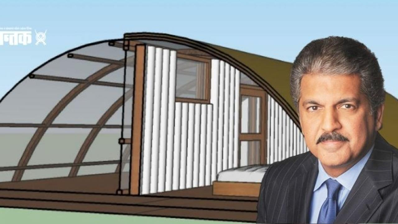 Anand Mahindra and Solar Tent