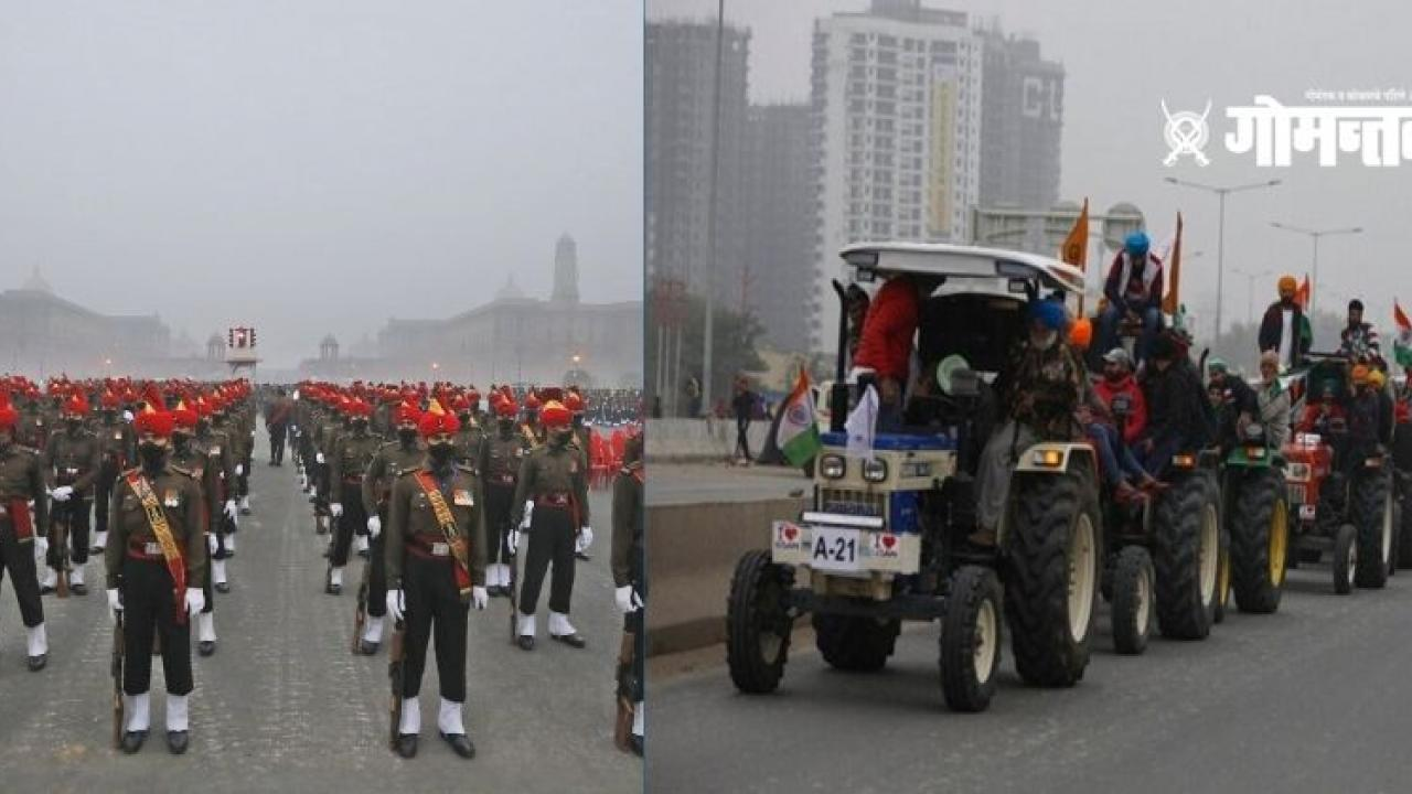 Protesting farmers will march Tractor parade will start after the Republic Day parade on the Rajpath in delhi