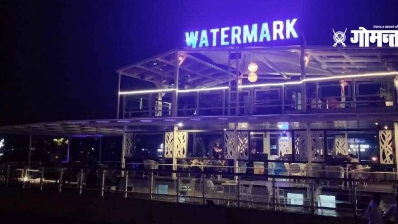 Illegal electricity connection to the floating restaurant Watermark on the Mandvi River