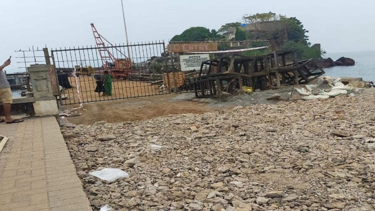 Work project for the bridge connecting the famous Dona Paula hill in Goa started today