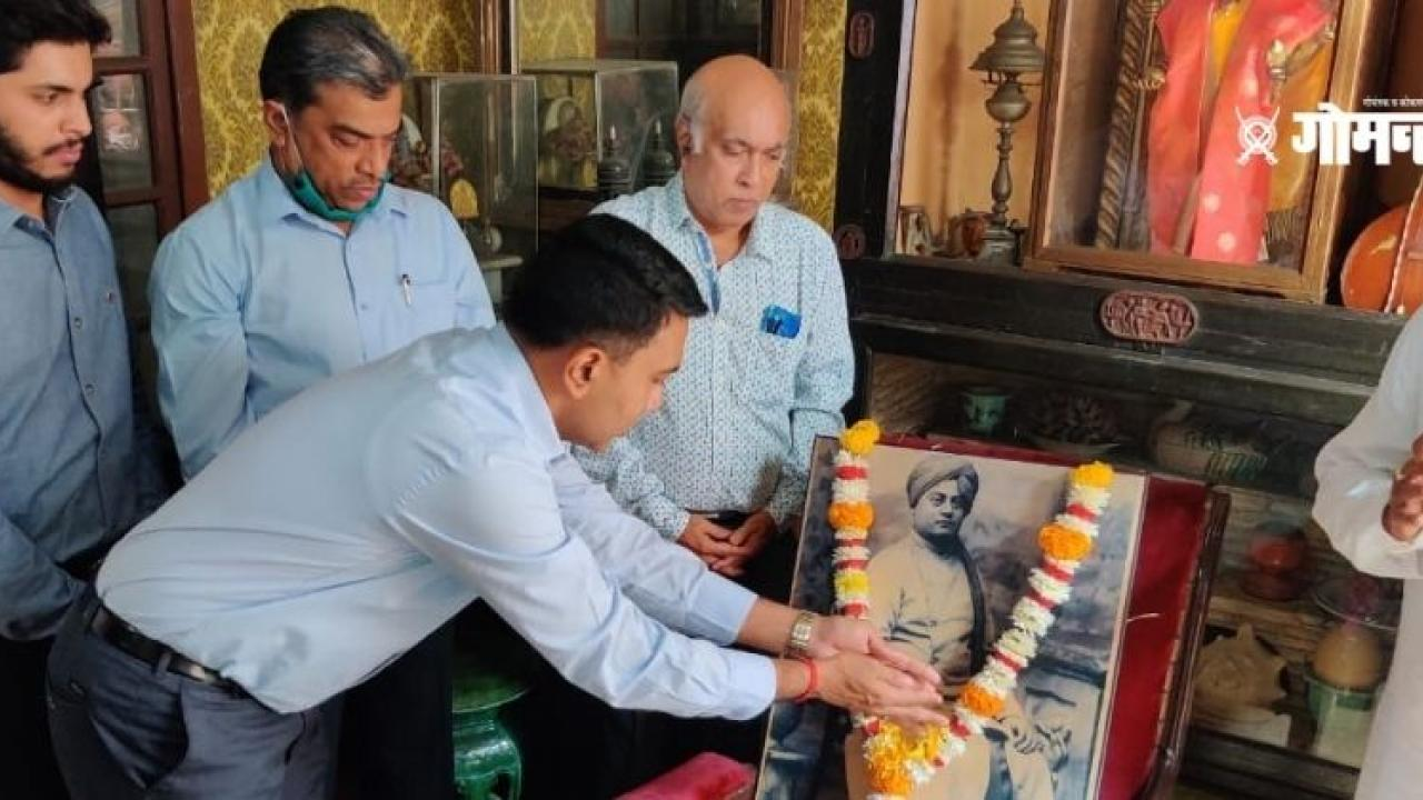 Chief Minister Dr Pramod Sawant's visit to Damodar Sal to commemorate the Birth Anniversary of Swami Vivekananda