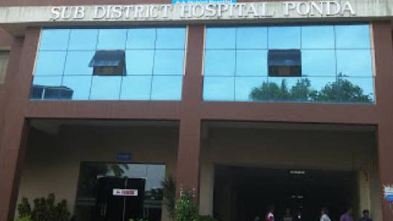 shortage of beds in Ponda Hospital for new corona patients