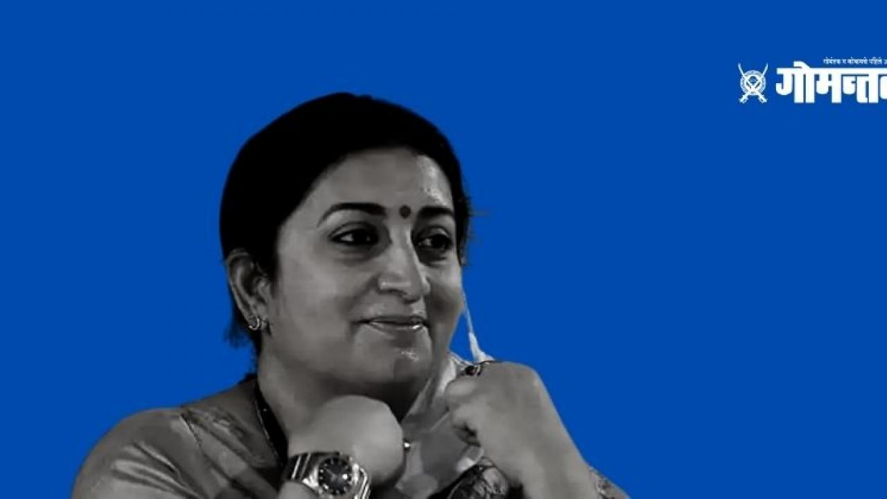 Smriti Irani scooter ride after Mamata Banerjee
