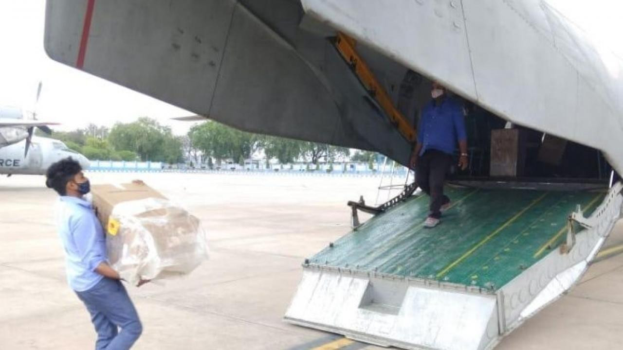 Two Indian Air Force planes arrived in Goa yesterday carrying oxygen cocentrators