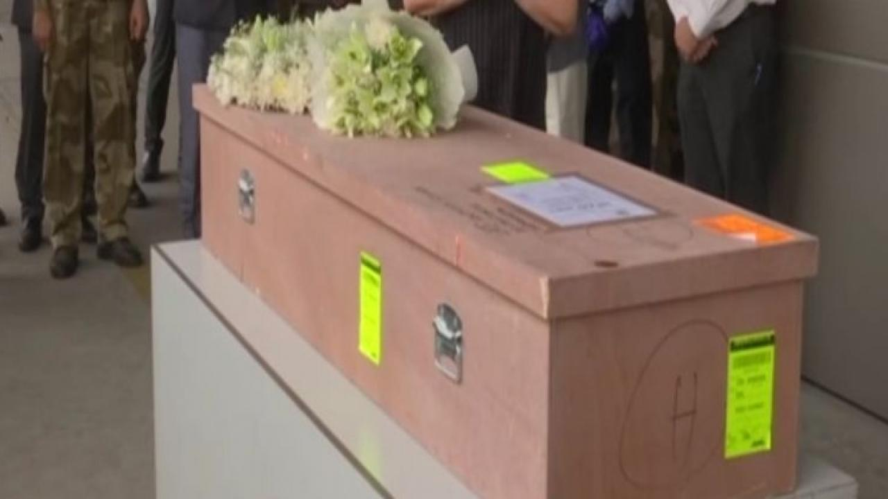Mortal remains of Kerala nurse who died in Palestinian rocket strike earlier arrive at Delhi airport