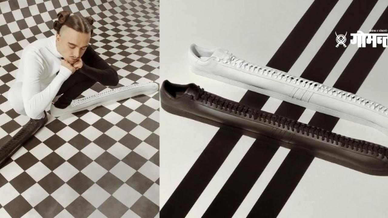 Adidas launched their longest shoes ever in collaboration with Tommy Cash