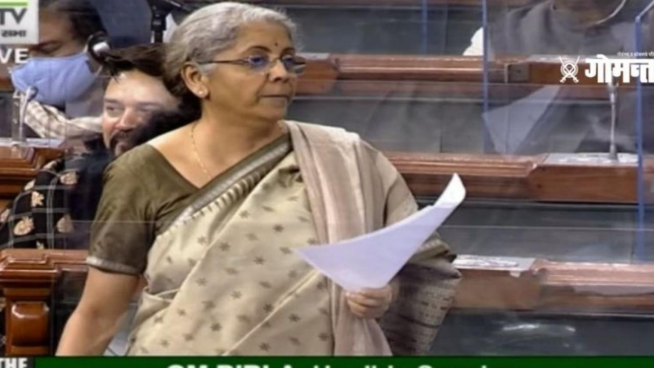 Lok Sabha Finance Minister Nirmala Sitharaman replied to the Congress