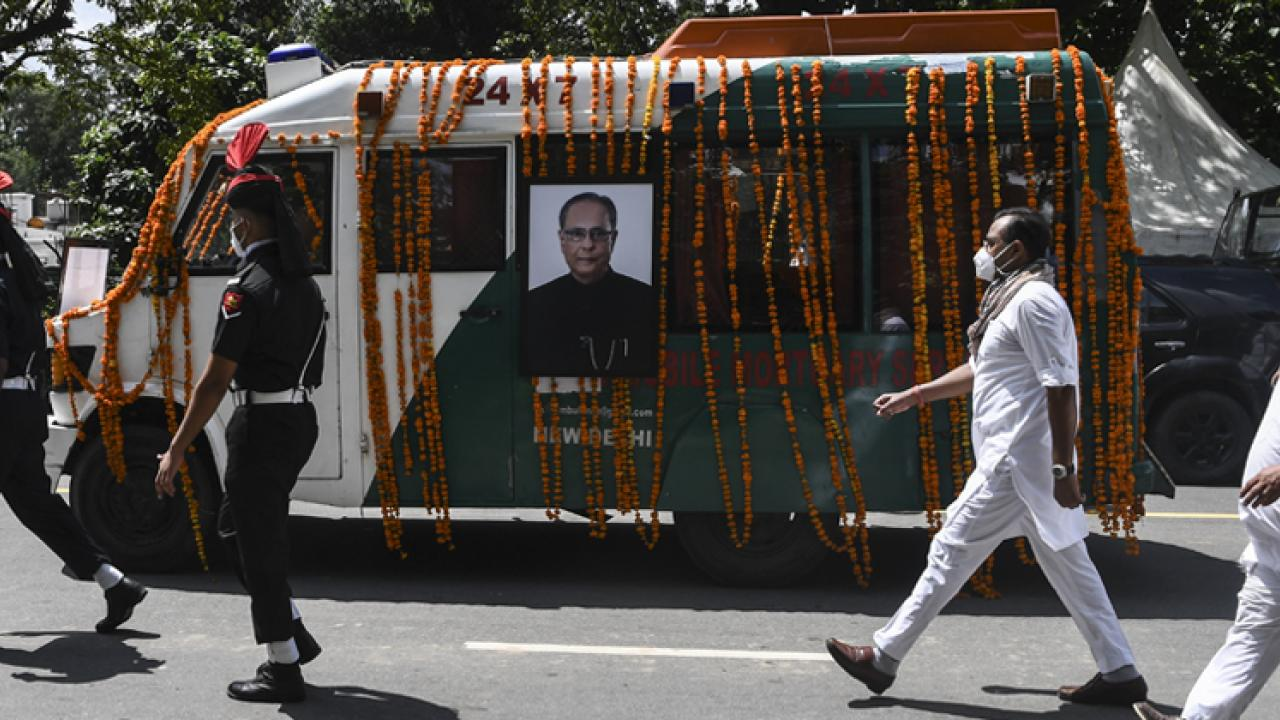 Pranab Mukherjee creamated with military honours