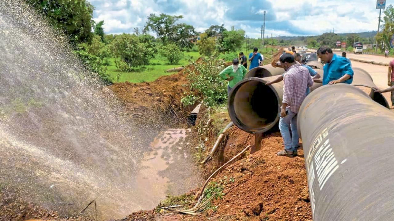 Goa: Water pipeline burst at Colvale to hit water supply Bardez today