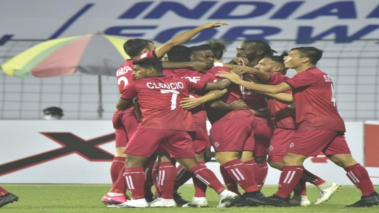 ISL 2020 21 Churchill brothers S C beats Indian Arrows in the match played at Kalyani in West Bengal
