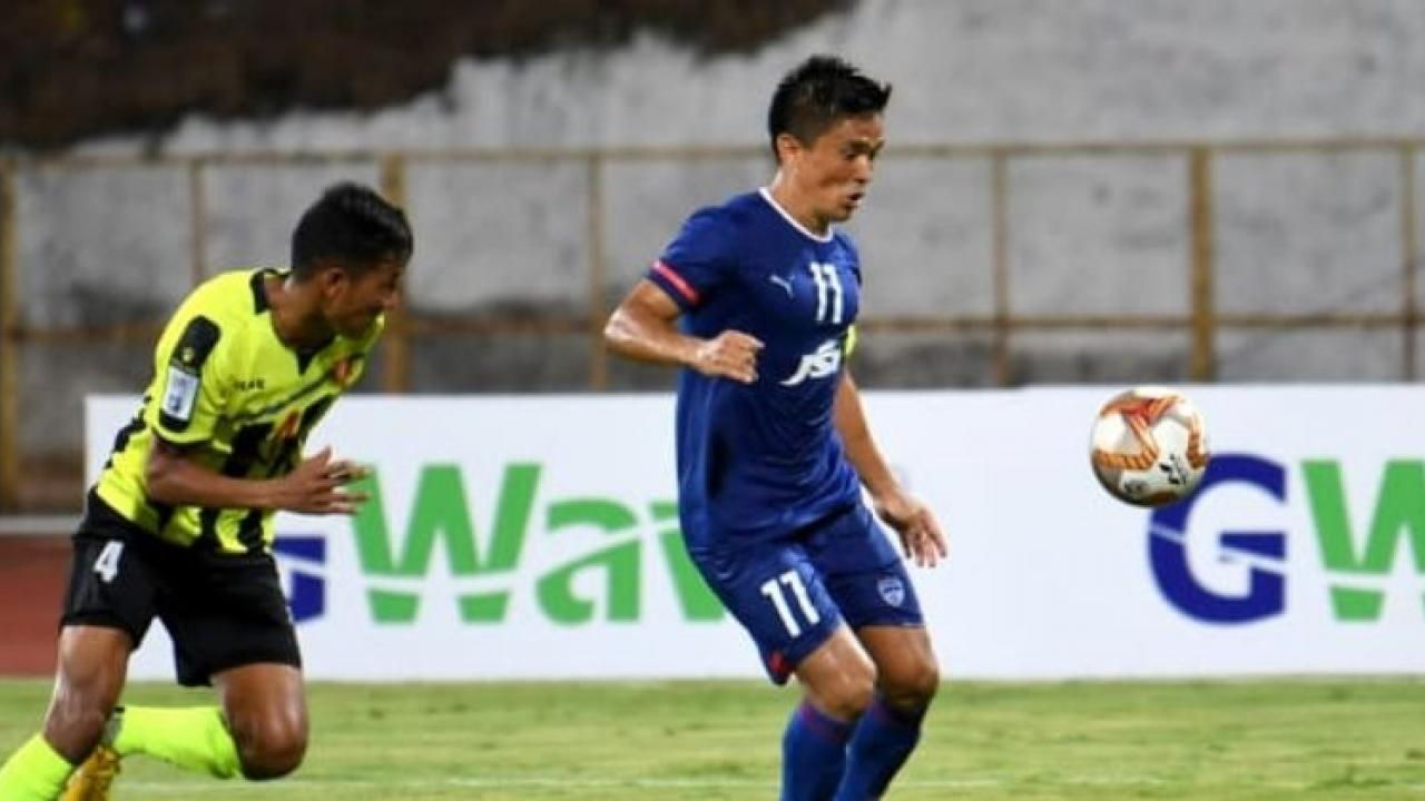 Bangalore FC thrashed Tribhuvan Army by a huge margin