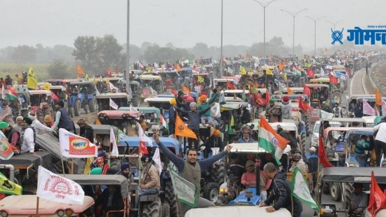 Protesting farmers will take out tractor parade on January 26 on Outer Ring Road in Delhi Yogendra Yadav at farmer unions press meet