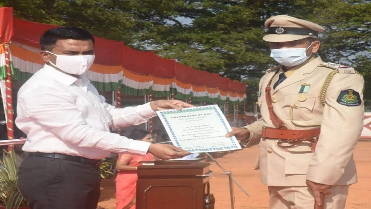 Chief Minister Gold Medal to 7 Police and 3 Firefighters on the event of  goa liberation day