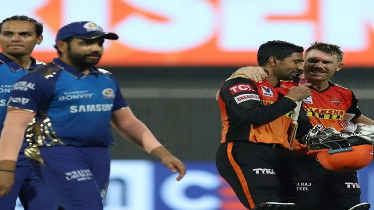 mumbai indians and sunrisers hyderabad