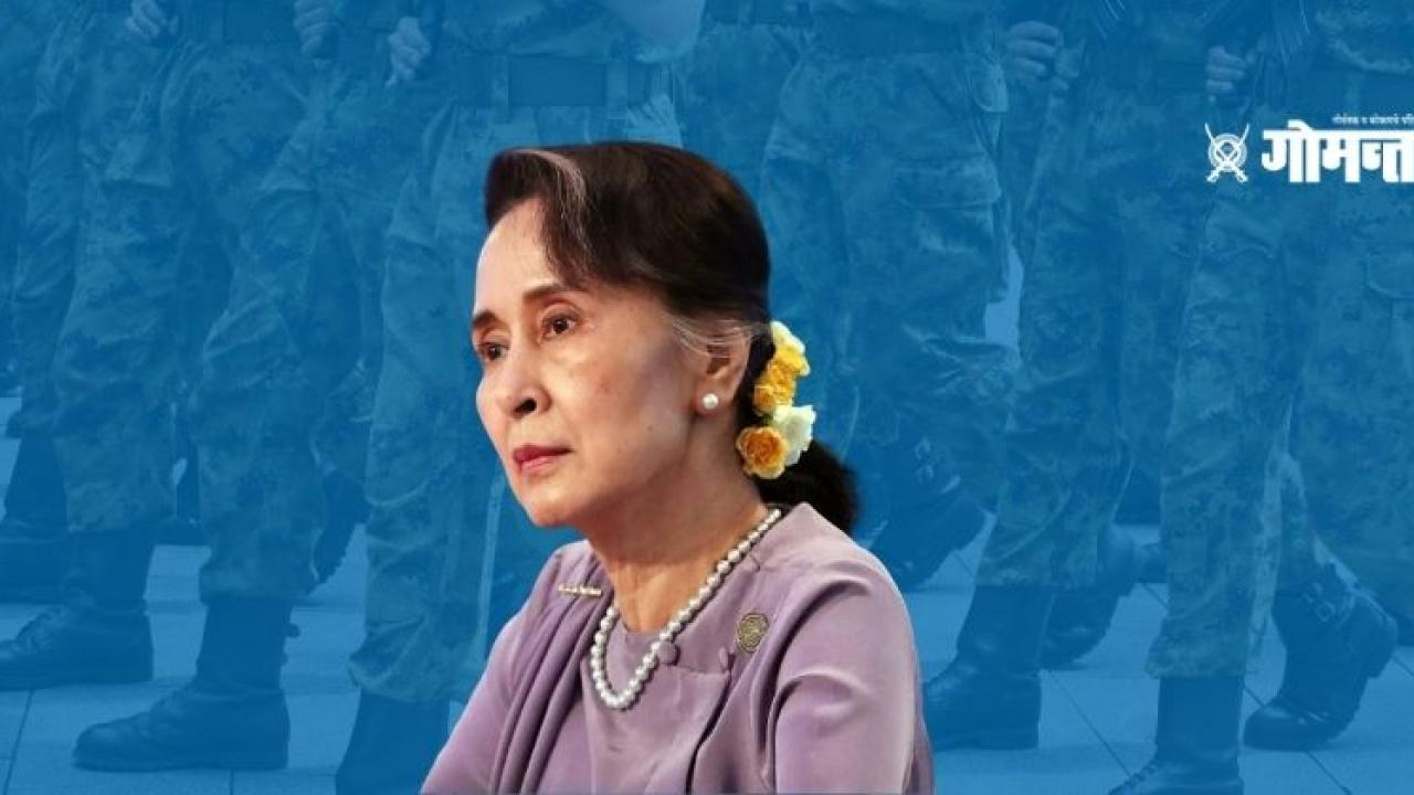 Myanmar leader Aung San Suu Kyi and other senior figures from the ruling party were detained in a raid
