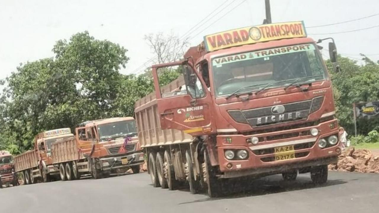 Bellary carries more than two hundred and fifty mineral trucks from Karnataka to Goa every day