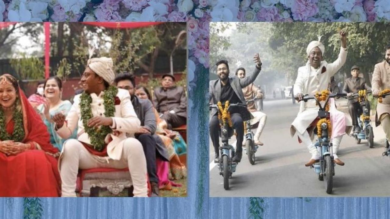 Video Viral See the eco friendly wedding ceremony of nature lovers