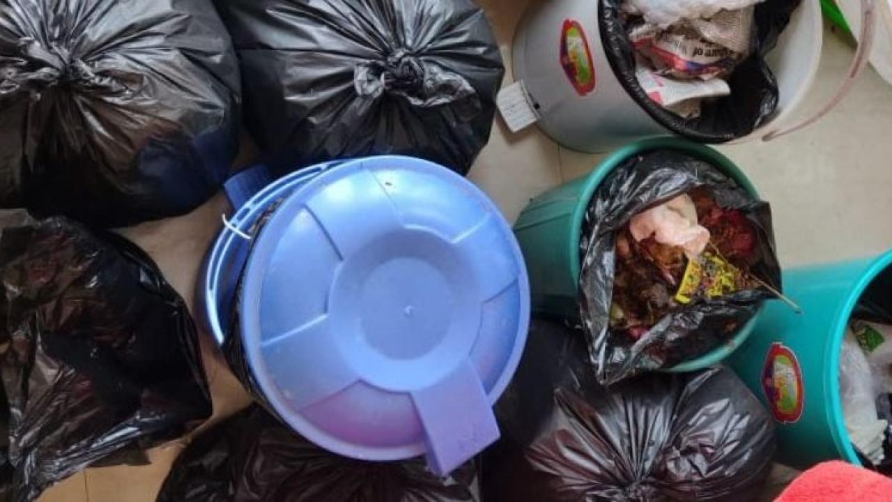 The society asked the corona patient to keep the garbage in the house In South Goa