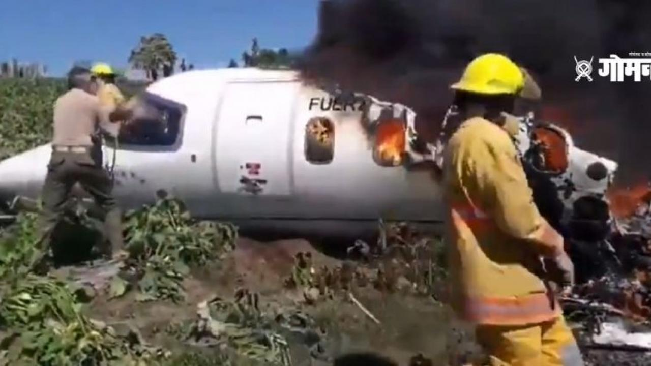Mexican Air Force plane crashed six soldier killed