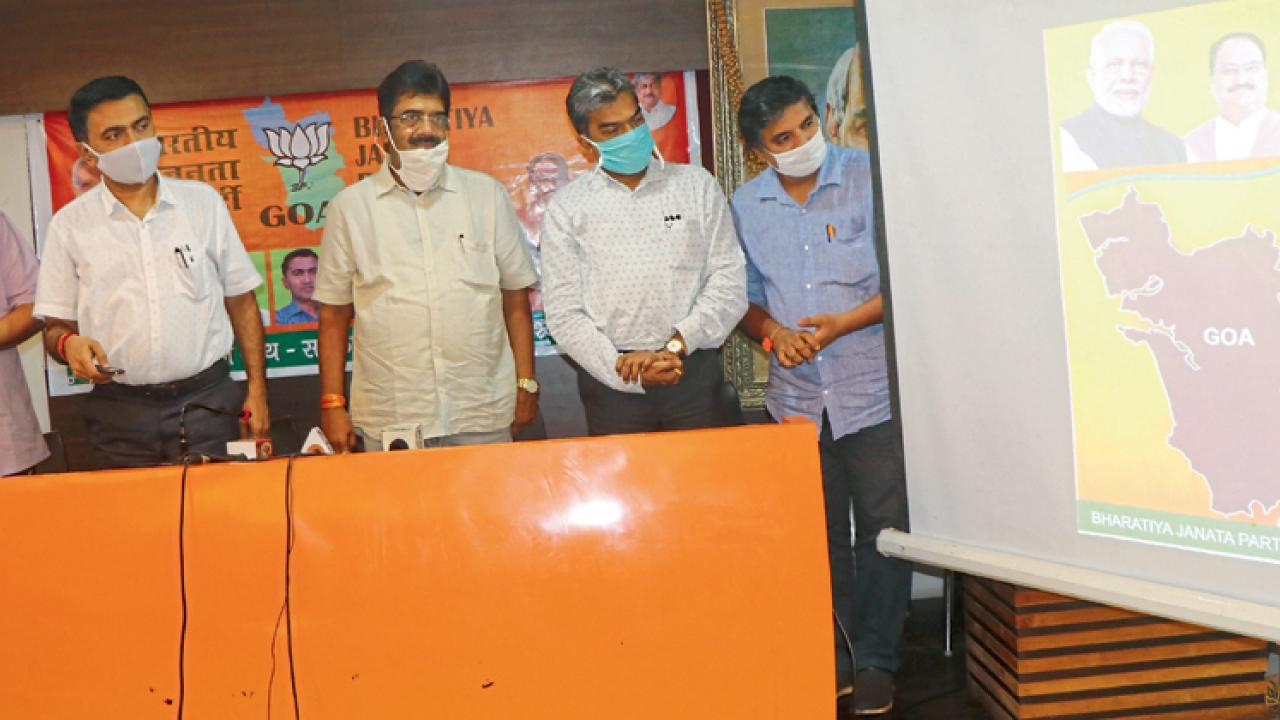 Goa: BJP release e-book on work done during corona pandemic