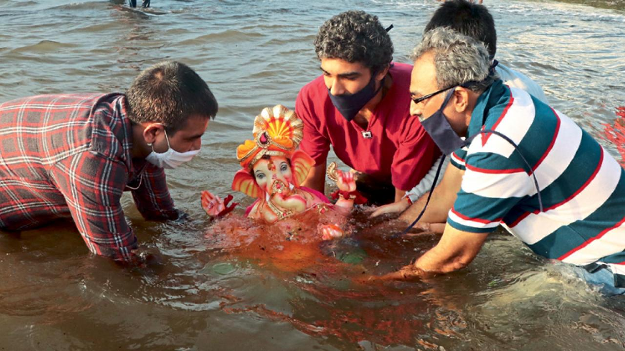 Ganesh idols immersion without procession in Goa