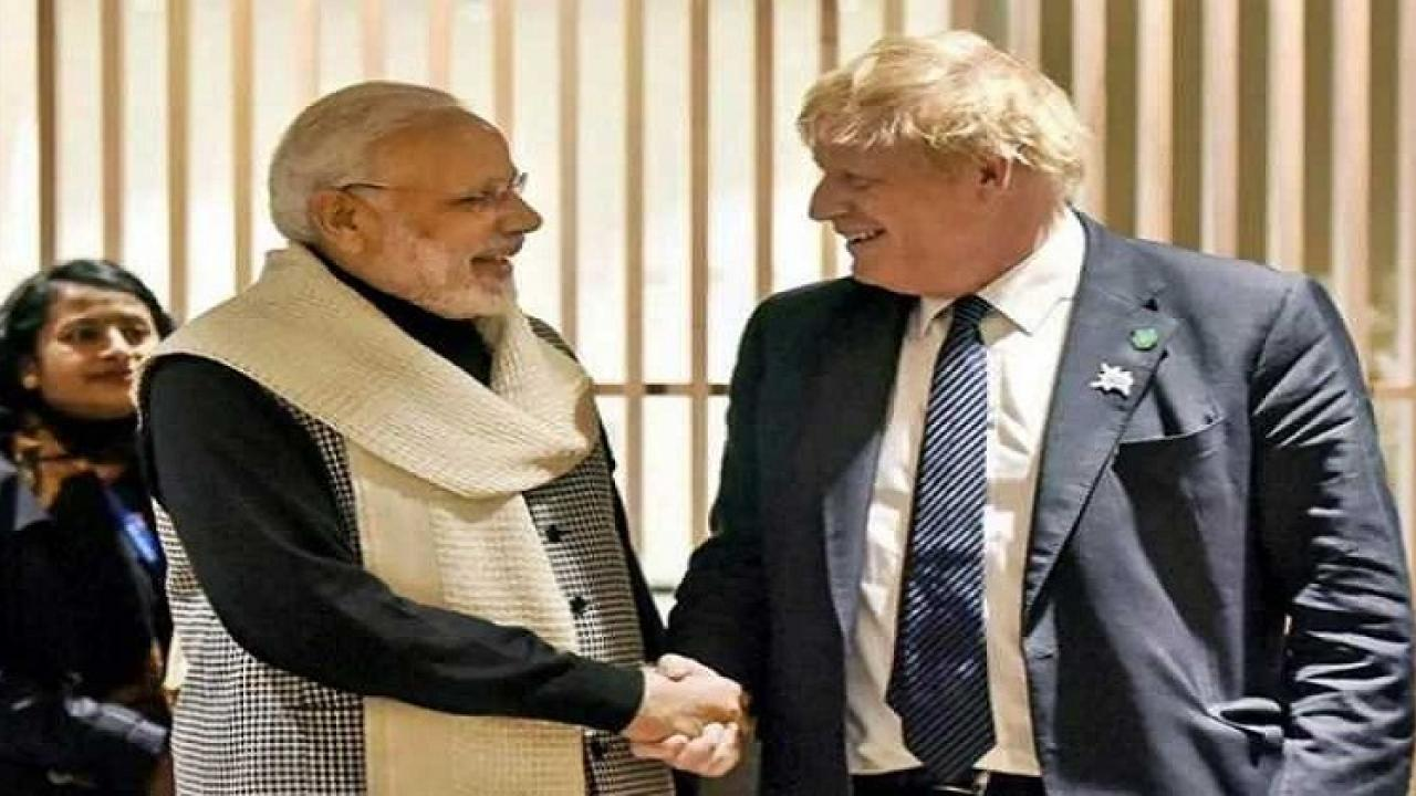 United Kingdom Prime Minister Boris Johnson cancelled his india visit Today