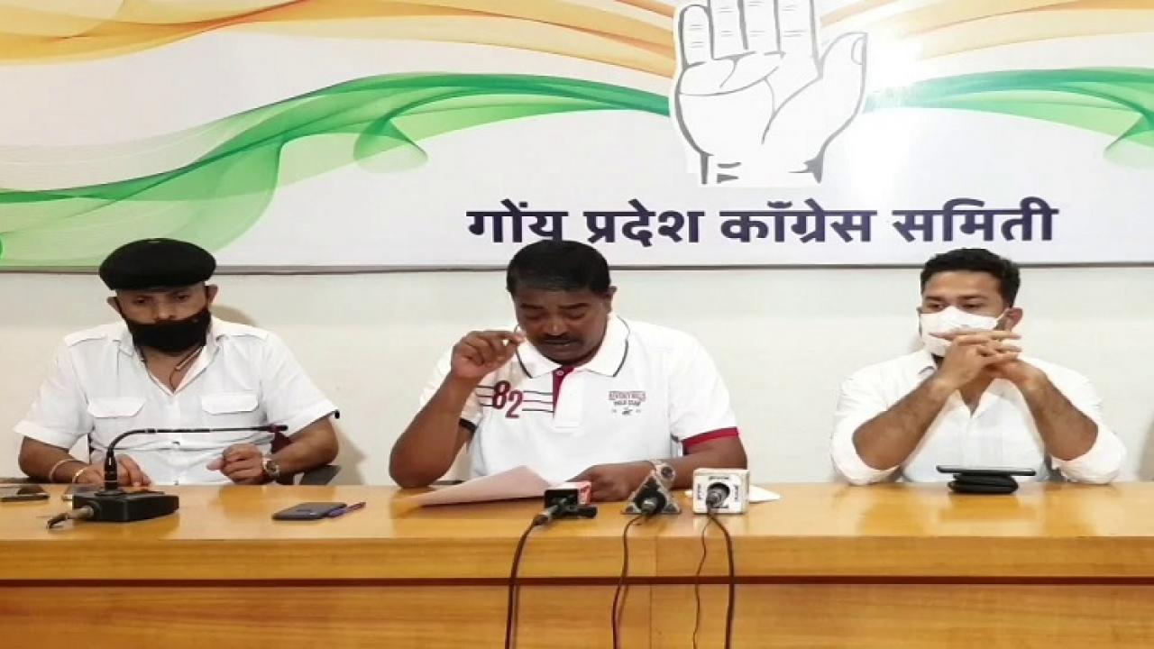 Under the pressure of Minister Naik the Morgaon case has played a game of democracy Congress leader Sankalp Amonkar