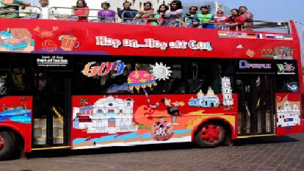 explore travelling  by bus in goa
