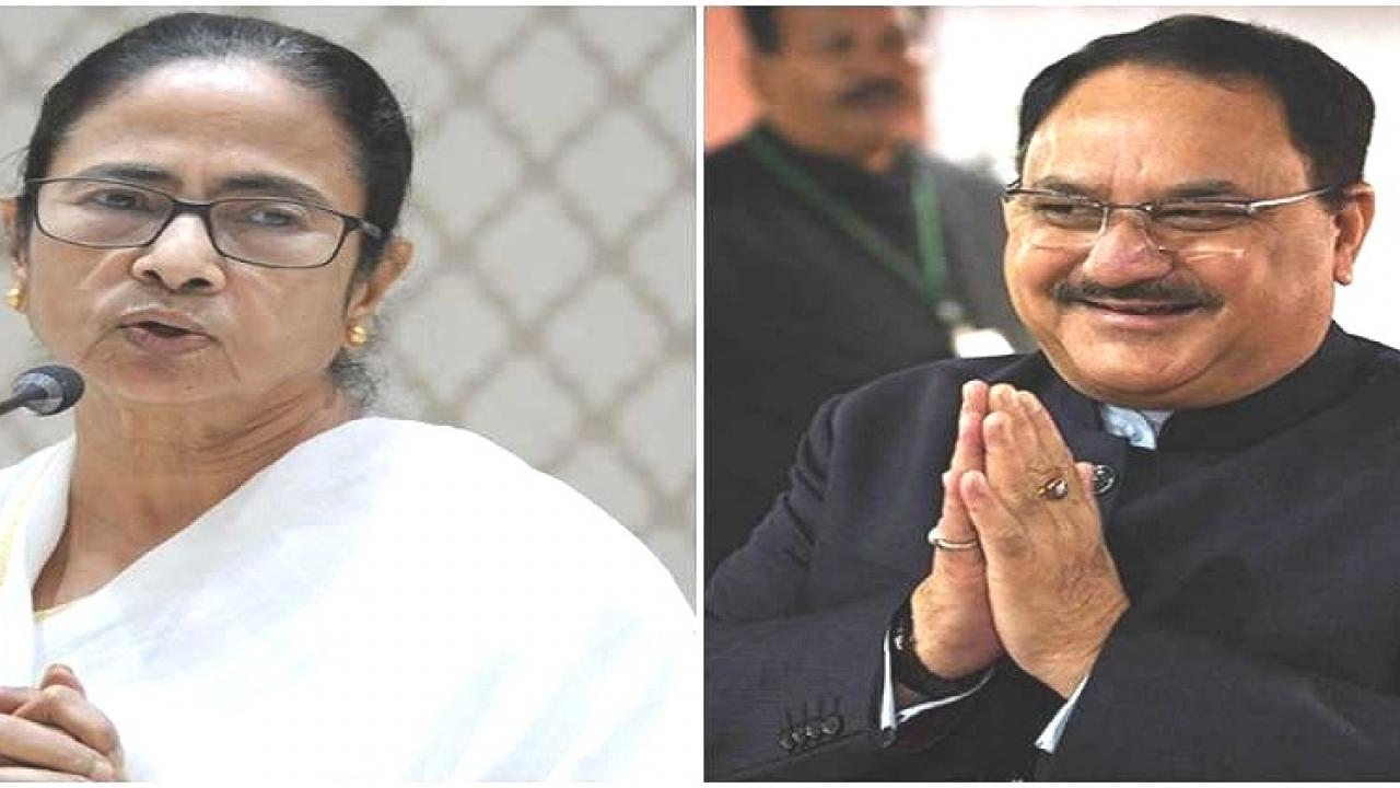 BJP president JP Nadda accused Chief Minister Mamata Bannerji of political intolerance and minority appeasement